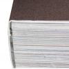 Rilegatura brossura incollata (Hotmelt) o rilegatura con brossura incollata PUR: il dorso del blocco di libro viene irruvidito e incollato con la copertina