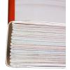 Rilegatura cucita a filo refe: I teli di piegatura vengono uniti con il filo; la cavità che si forma fino a raggiungere il dorso viene riempita con colla